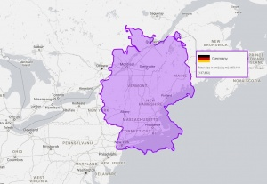 germany is only a little bigger than new england