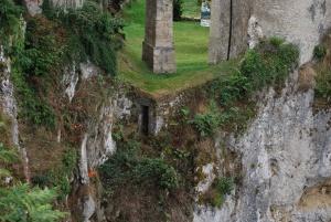 secret doorway under the drawbridge to castle lichtenstein