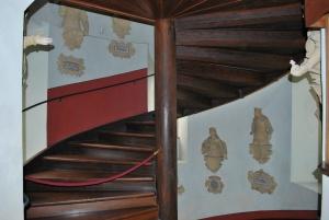 stairwell inside castle lichtenstein