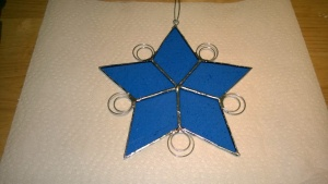 i created 2 layers of circles for one of my snowflake stars