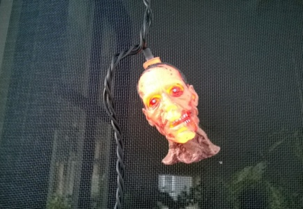 The Zombie Heads Lit Up!!!