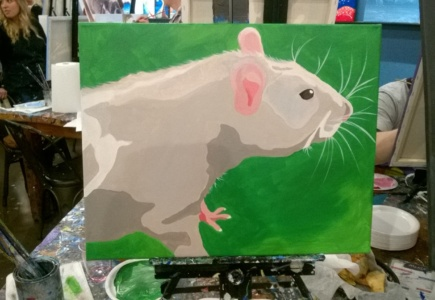 I Painted Franc at a Paintbar!