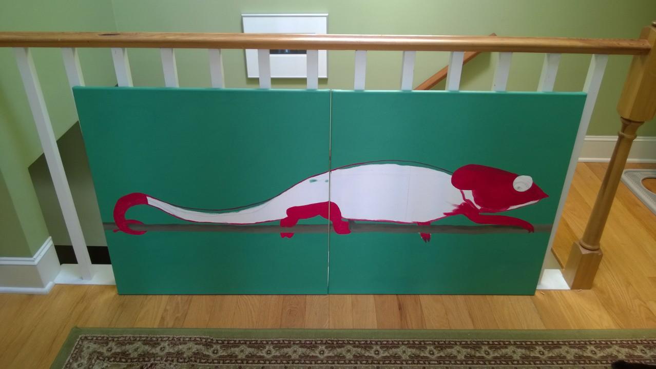 Chameleon Mural – Part 2