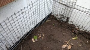 i put up hardware cloth to keep mice away from our foundation