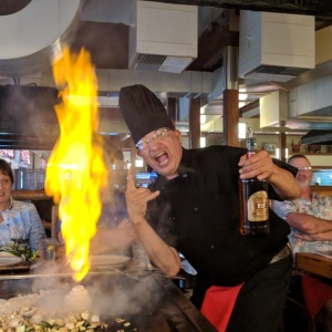 awesome chef at the maui japanese steak house