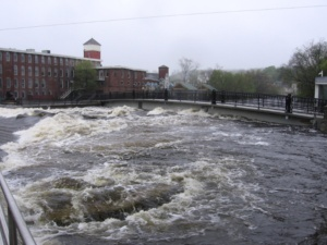 ipswich river during the flood of 2006, taken by waterpixi