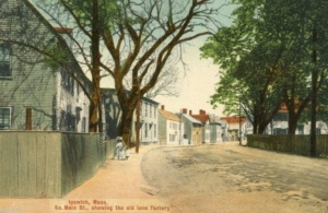 postcard of south main street and the philemon dean house ipswich ma 1910