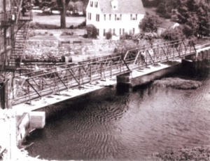philemon dean house ipswich and original riverwalk bridge 1973 (?)