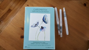 watercolor paper that came with my chromatek pen set