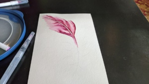 i did the chromatek tutorial on youtube for painting a feather