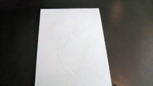 printout of a template from chromatek website for watercolor pens