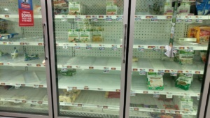 the new normal - no frozen vegetables veggies at shaws in ipswich