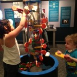 kids attending Peak Potential Therapy's special needs Spring Break Camp on a field trip to Great Lakes Science Center