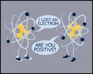 What happens when you lose an electron?  You become a positively charged protein!