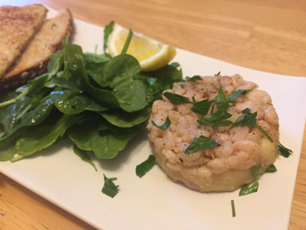 Americans try potted shrimp