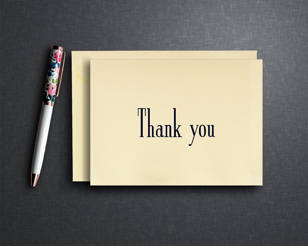 Jimmy Fallon Thank You Note