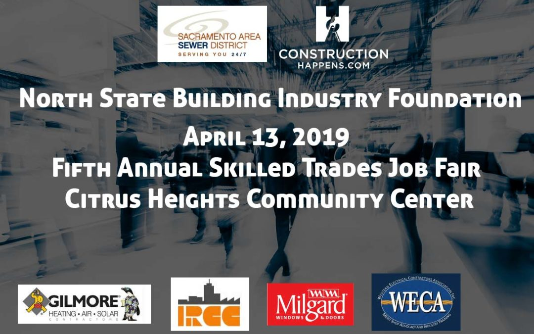 Construction Happens Announces a Construction Job Fair to Be Held April 13, 2019