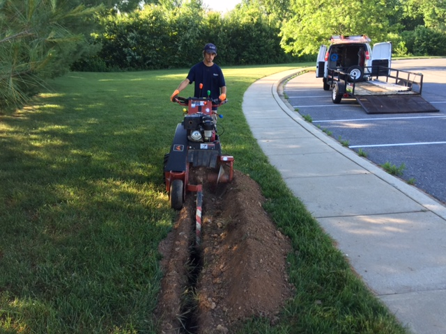 Trenching & Light Pole Installation – Mount Airy, MD