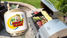 Gas grill propane cylinder exchange safety tips