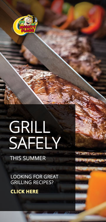 Safe grilling with propane tips