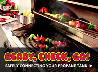 safely connect gas grill propane tank