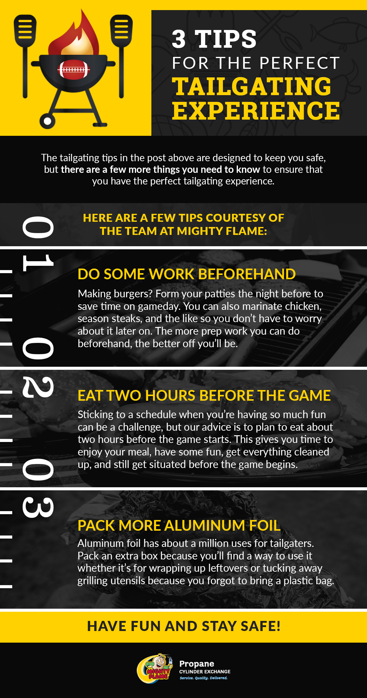 3 Tips For The Perfect Tailgating Experience