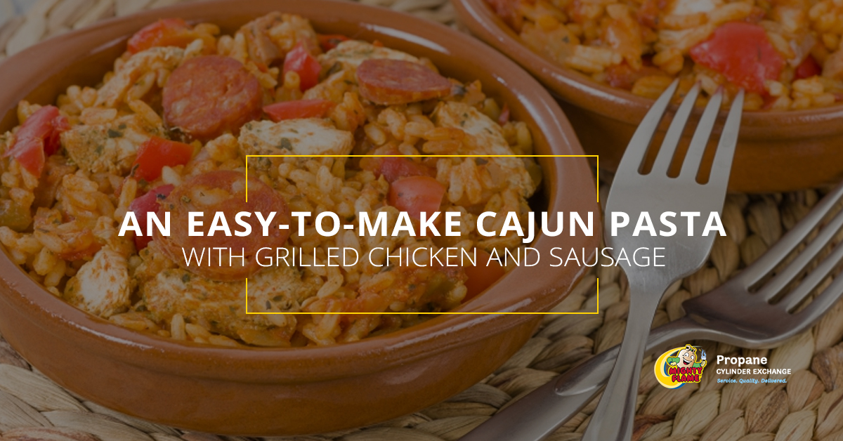 An Easy-to-Make Cajun Pasta With Grilled Chicken and Sausage