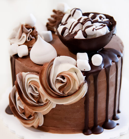 Hot Chocolate Mocha Cake