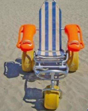 mobi chair at kalmus beach