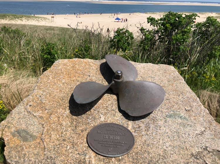 The propeller from the Coast Guard Motor Life Boat CG 36500,