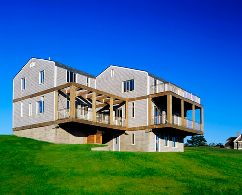 Block Island Vacation Home (exterior) - Residential Construction Management