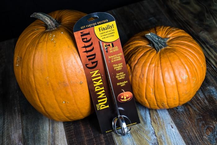 Pumpkin Gutter in package with pumpkins