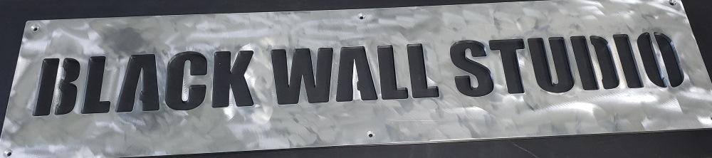 Aluminum sign for Black Wall Media