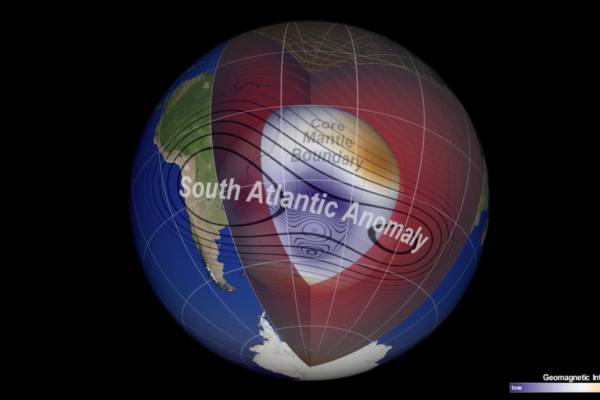 NASA Scientists Track Slowly Splitting 'Dent' in Earth's Magnetic Field