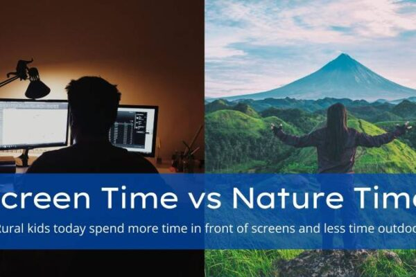 Screen Time vs Nature Time – i.e Rural kids today spend more time in front of screens and less time outdoors