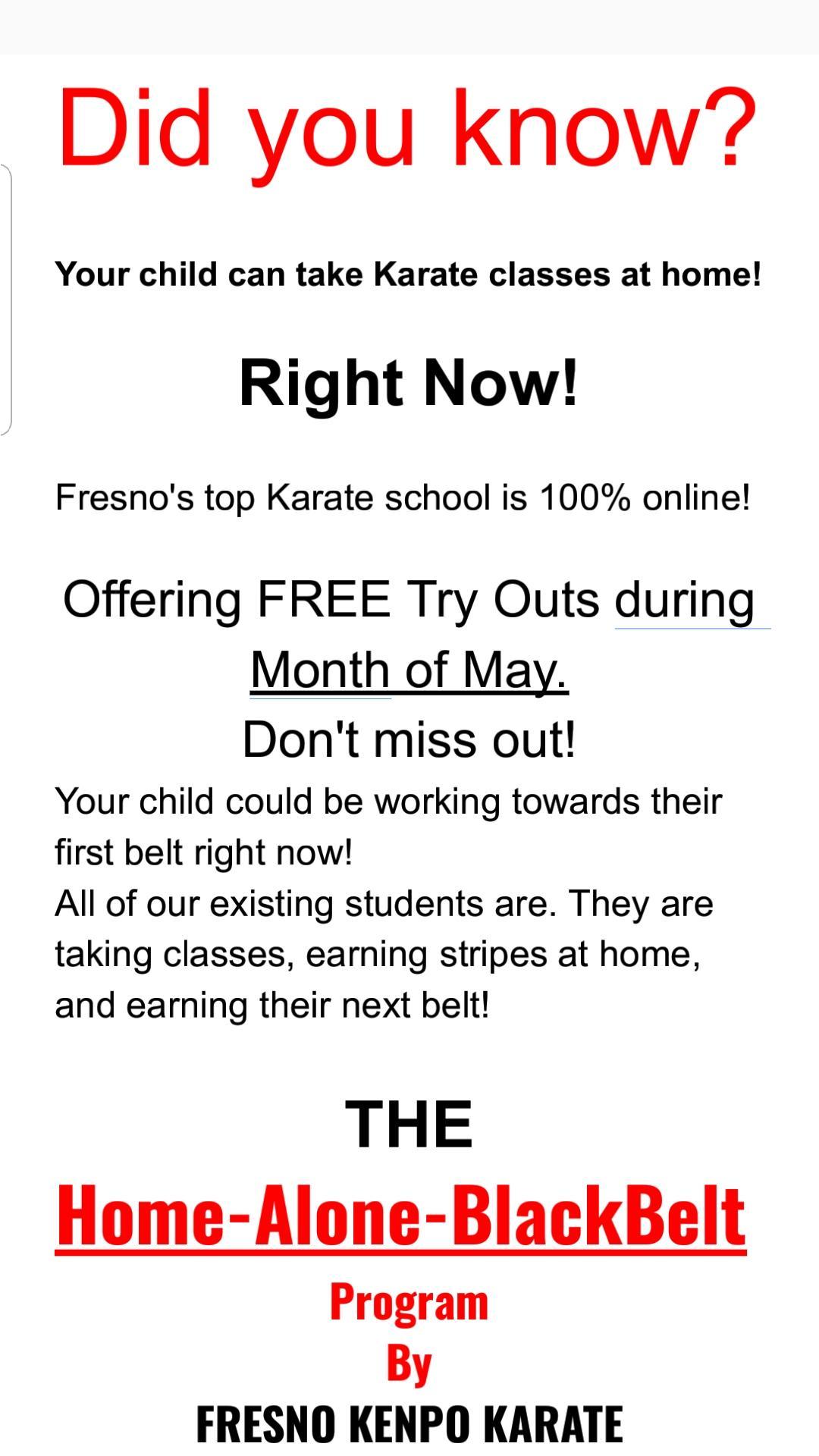 Karate Promo Pic #1