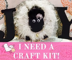 "Make Your Own Sheep Letter ""O"" for Home Decor Tutorial Craft Kit | Shepherd Like A Girl"