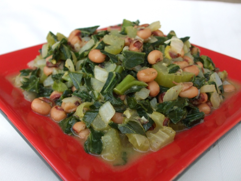 Collards and Black Eyed Pea