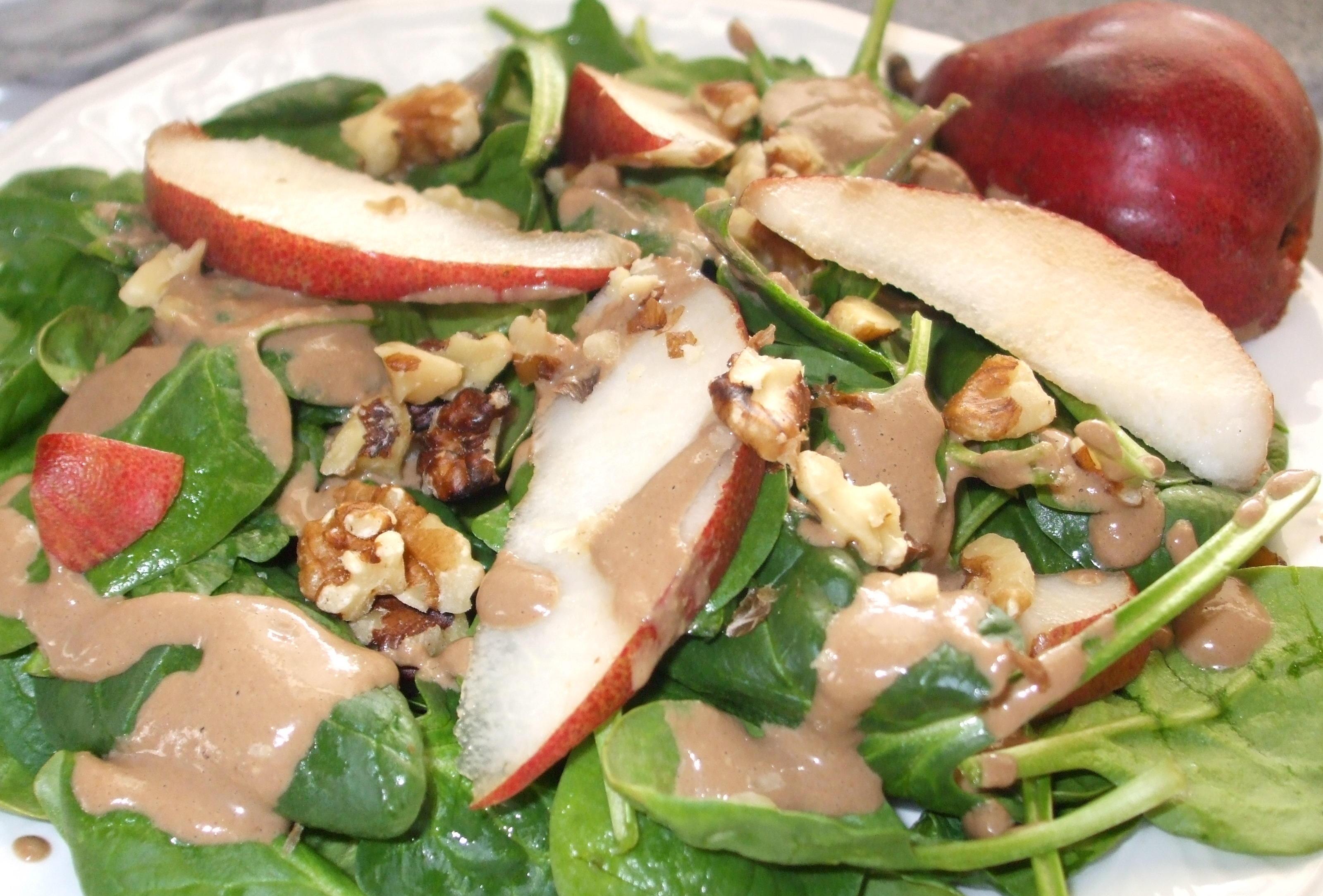 Pear Spinach Salad (2)