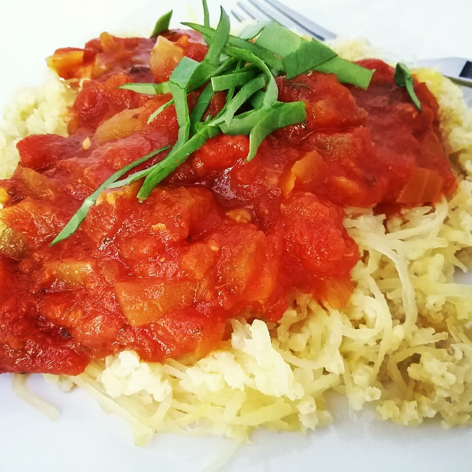 Speghetti Squash and Millet Marinara