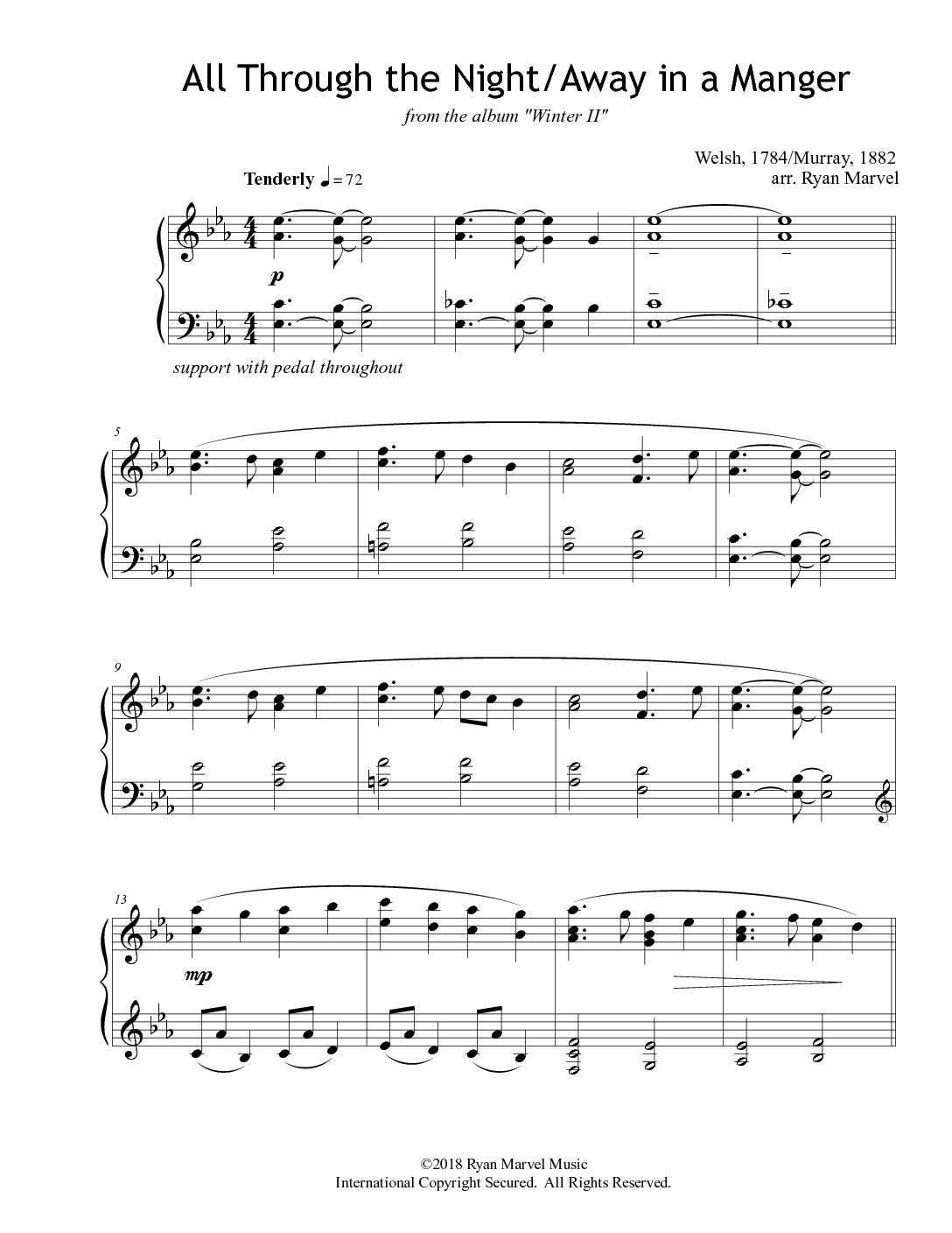 Holiday Sheet Music – Downloads – Ryan Marvel