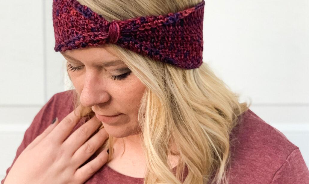 Color Melt Headband by Emily @ Hooked Hazel