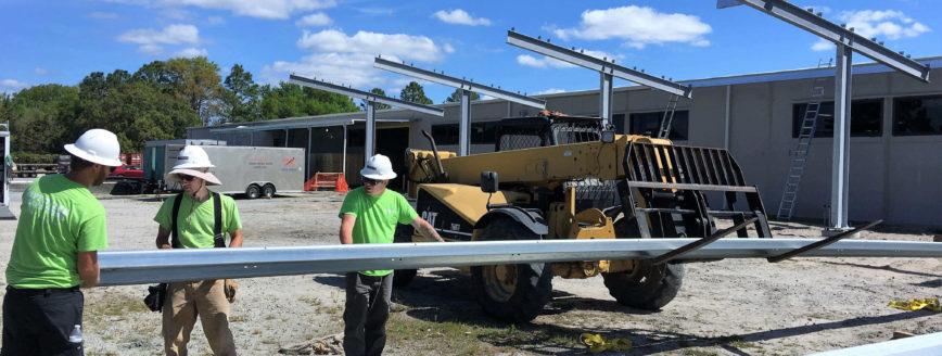 Wilmington's First Solar Carport