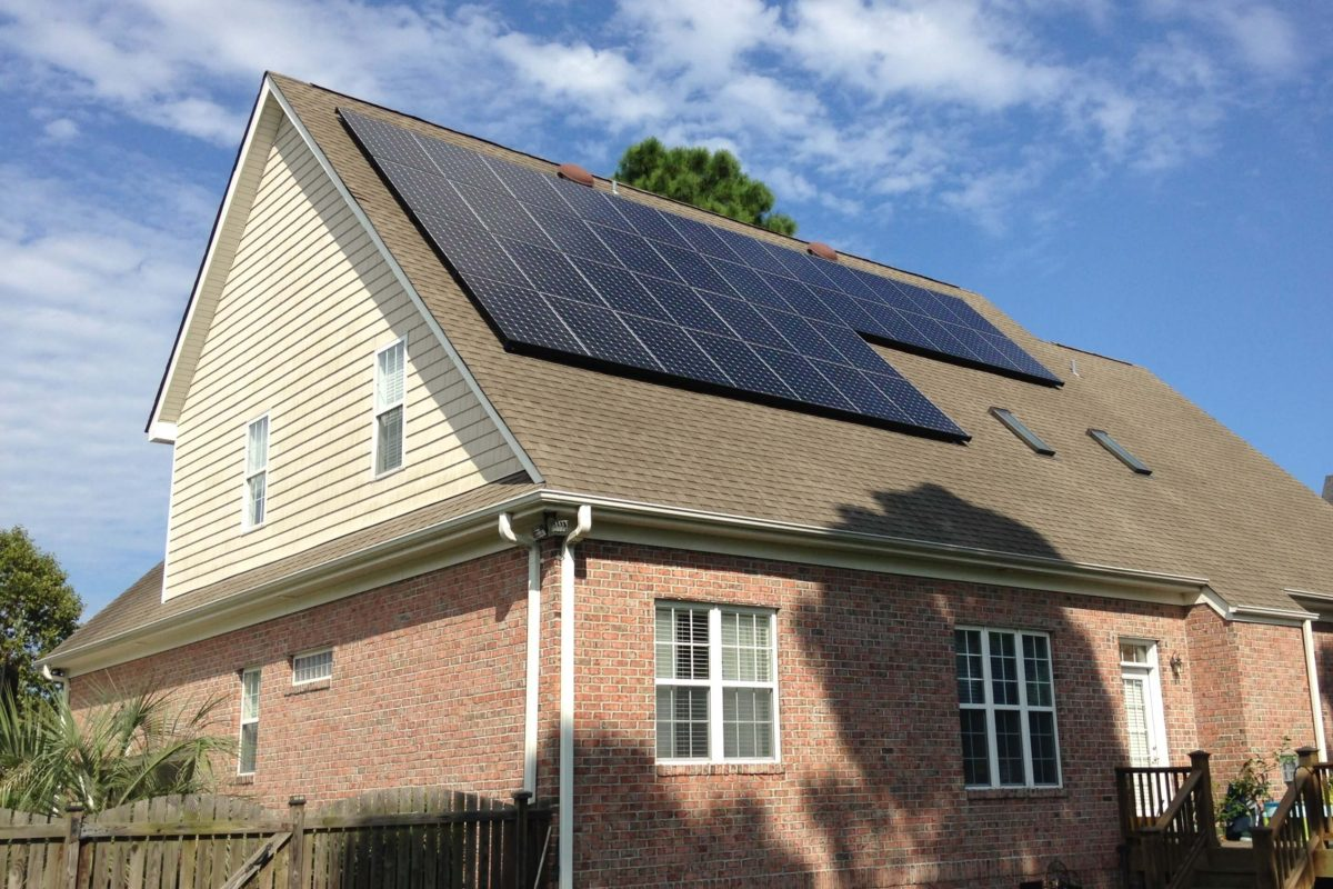 Solar Home Off Collage Road Wilmington NC