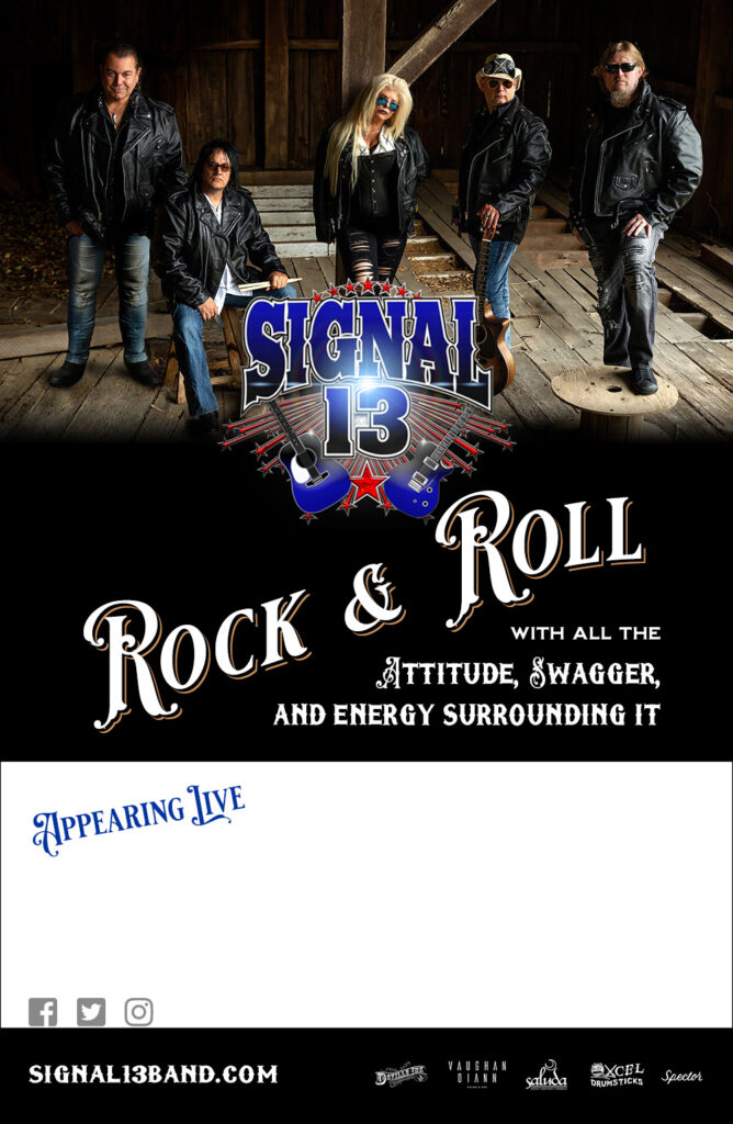 Signal 13 band promotional flyer 2