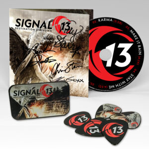 SIGNED CD + GUITAR PICKS & TIN