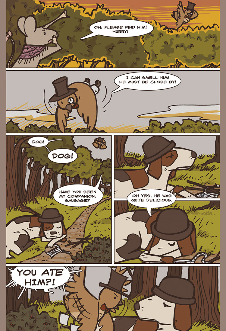 The Bird, the Mouse, & the Sausage pg08