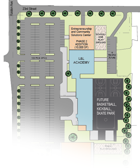 Edna Martin Christian Center's Leadership & Legacy Campus site plan