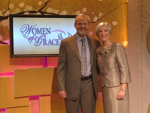 Catholic Speaker and Author Gary Zimak with Johnette Benkovic from his recent appearance on Women of Grace