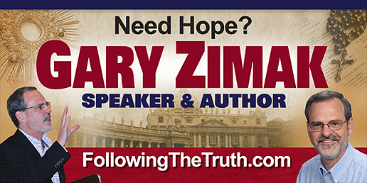 Need Hope? Book Catholic Speaker Gary Zimak for your next parish mission or conference!
